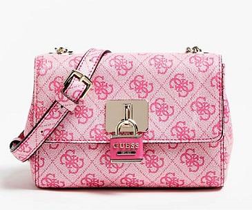 comprar bolso guess minibandolera rosa precio barato online
