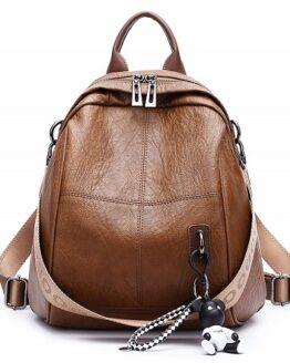 comprar mochila mujer cuero marron deerword precio barato online