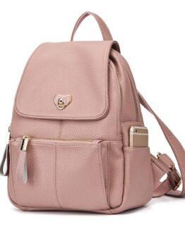 comprar mochila mujer cuero rosa precio barato online