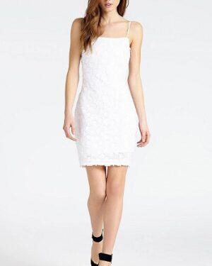 comprar vestido blanco guess con tirantes precio barato online